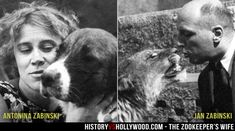 The real Zookeeper's Wife and her husband. More pics here: http://www.historyvshollywood.com/reelfaces/zookeepers-wife/