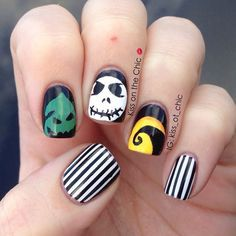 nightmare before christmas nail art designs - Google Search