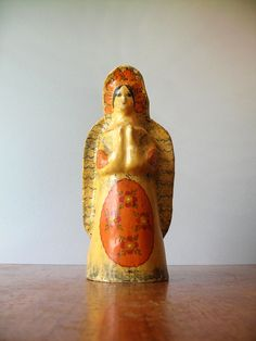 Vintage Gemma Taccogna Angel Figurine / Sculpture - Mexican Folk Art. $245.00, via Etsy.