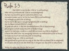 Afrikaanse Inspirerende Gedagtes & Wyshede - Psalm 23