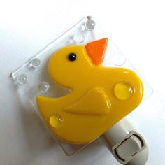 Rubber Duck Night Light by LaGlasSea on Etsy