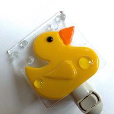 Rubber Duck Night Light by LaGlasSea on Etsy