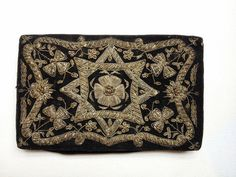 Antique gold embroidered purse/ Zardozi embroidery by Vintagiality