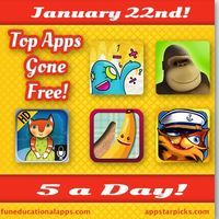 Some great FREE apps for today's 5 a Day with 2 math app games - TOP PICK 10monkeys Multiplication to master the times table the fun way and...
