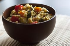 Dive into Moroccan cuisine with this easy to make vegetarian couscous recipe laced with saffron and pine nuts Healthy Cooking, Healthy Snacks, Healthy Recipes, Cooking Tips, Healthy Life, Healthy Eating, Vegetarian Couscous Recipe, 600 Calorie Meals, Dieta Dash