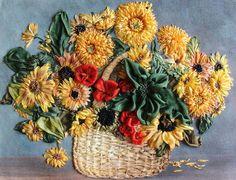 """""""For Autumn`s birthday"""" Ribbon Embroidery Kit by Tatiana Popova of Ukraine."""