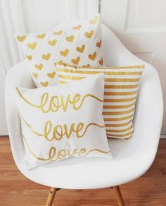 Painted Pillow Covers