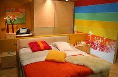 Renkli Yatak Odası Duvar Kağıdı | Colorful Bedroom Wallcovering