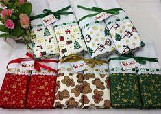 Lembrança de Natal - 10 panos de copa Mary Christmas, Christmas Sewing, Handmade Christmas, Christmas Ornaments, Guest Towels, Hand Towels, Tea Towels, Bathroom Towels, Kitchen Towels