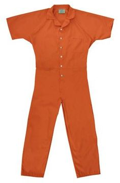 Details about CUSTOM PRINTED Jail Inmate Orange JUMPSUIT Costume ...