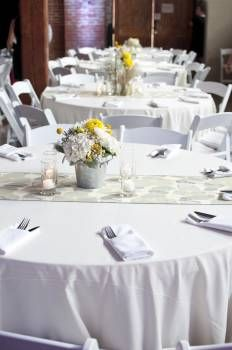 Bravo Bride- a site where newlyweds sell their used wedding supplies like table linens, decorations, dresses, etc.