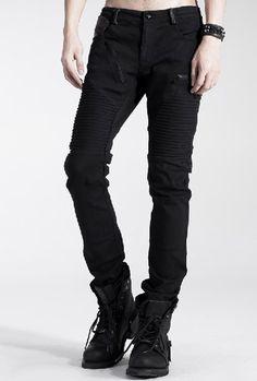 Sexy Visual Kei Punk Rave Gothic Fashion Men's Black Pants Trousers L XXL - 79.99 - Ebay
