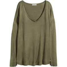c8fa1fe2b60 H amp M V-neck jumper ( 23) ❤ liked on Polyvore featuring tops