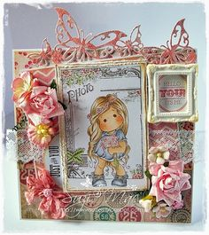 My latest card using Sweet Tilda from http://www.magnoliastamps.us/ #cards #crafts more info at http://wwwsuzies.blogspot.co.uk