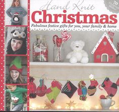 Hand Knit Christmas magazine Festive gifts Shawl Stocking Crochet snowflakes