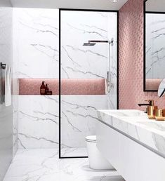 15 design ideas for chic bathroom tiles Bathroom Tile Designs, Trends & Ideas - Marble Bathroom Dreams Chic Bathrooms, Bathroom Inspiration, Bathroom Tile Designs, Small Bathroom, Minimalist Bathroom Design, Bathroom Decor, Trendy Bathroom, Bathroom Design, Tile Bathroom
