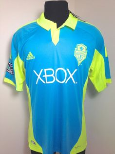 $54 SEATTLE SOUNDERS JERSEY 2012 MLS SOCCER 3RD KIT CYAN MENS XL (44-46) NEW W/TAGS! #adidas #SeattleSoundersFC #soccerfever #clint_Dempsey