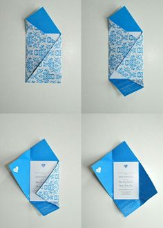 briefumschlagtinkerrectangularblue patterndiy idea briefumschlag pattern rectangular tinker is part of Origami letter - Envelope Diy, Envelope Origami, How To Make An Envelope, Envelope Design, Envelope Pattern, Origami Letters, Origami Cards, Diy Paper, Paper Crafts