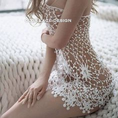 Buy or order Lace tunic from Olga Lace in the online store at the Fair of Masters. Lace tunic from O Crochet Lingerie, Bikinis Crochet, Irish Crochet, Diy Crochet, Sewing Clothes, Crochet Clothes, Beach Cover Up Skirt, Bleach Tie Dye, Crochet Cover Up