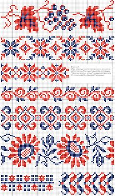 Antique cross stitch borders