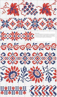 Antique cross stitch borders Plus
