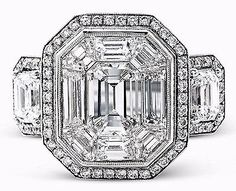 GIA Certified 4.00 Ct Flawless Emerald Cut Halo Diamond Engagement Ring 18K Gold