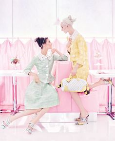 This has been my favorite ad I've seen lately the vintage vibe in the current pastel trend