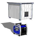 Portable Generator Enclosure Plans - DIY Shed Plans by iCreatables