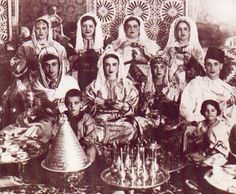 _Vintage Pictures of Moroccan Women at a wedding