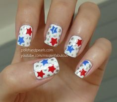 Star Nail Art: Fourth of July Manicure #nails #summer #holiday #holidaynails