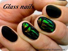 Glass Nails ; folia celofanowa od EDbeauty-Profesjonalne ozdoby do paznokci