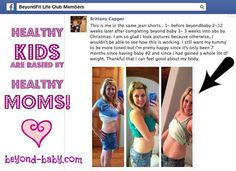 So proud of our BeyondFit mom, Brittany!   She's a busy mom of two who is making her health a priority so that she can set a healthy example for her kids!   www.beyond-baby.com  Check out her progress below!! And watch for her full #fitmom feature (sharing her tips & tricks plus lots of motivation) on our blog coming soon!!