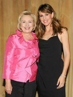 Hillary Clinton and Jennifer Garner