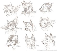 Character head sketches 11-19