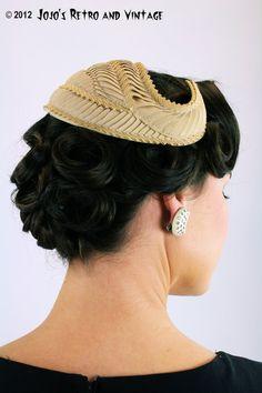 50s vintage cocktail hat / Bonwit Teller by JojosRetroandVintage