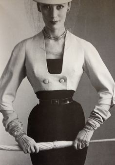 Dior 'New Look' - 1947 - House of Dior (French, founded 1947) - Design by Christian Dior (French, 1905-1957) - @Mlle