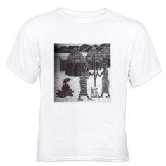 The Custom White T-Shirt I designed on CafePress.com