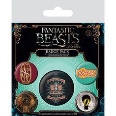 Fantastic Beasts Badge Set
