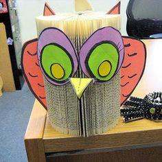 Paperback Book Owl Craft: How to Make an Owl Craft Using a Book