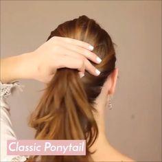 Medium Hair Styles, Curly Hair Styles, Hair Upstyles, Magic Hair, Easy Hairstyles For Long Hair, Tips Belleza, Great Hair, Hair Videos, Hair Hacks