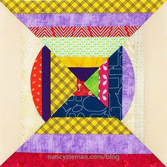 November Block of the Month | 2016 Adventure Quilt | Nancy Zieman | Sewing With Nancy | Carefree Curves Template