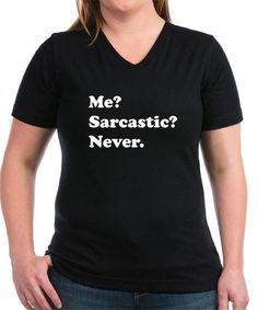 Look at this Black & White 'Me? Sarcastic? Never' Tee on #zulily today!
