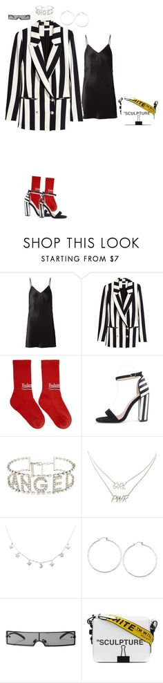 """""""Striped goodness"""" by sommiee ❤ liked on Polyvore featuring Fleur du Mal, Balenciaga, WithChic, Charlotte Russe, Lucky Brand, Replay and Off-White"""