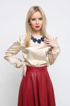 3d807a82e7e6 Satin blouse Kleidung, Blusen, Satinseide, Damenleggings, Schöne Blusen,  Bademode, Bikini