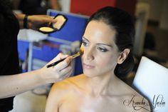 Maquillando a la novia www.aranchamartin.es