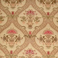 9.5 yards Gorgeous Victorian Gothic Floral Medallion Brocaded Embroidery Look Upholstery Fabric