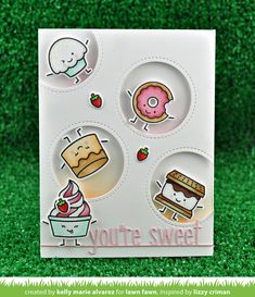 Hello and welcome to Lawn Fawn's Valentine's release week! On December our 3 new stamp sets, 7 new die sets, 5 new cardstock colors . Lawn Fawn Blog, Lawn Fawn Stamps, Window Cards, Friendship Cards, Scrapbook Cards, Scrapbooking, Copics, Kids Cards, Cute Cards