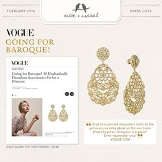 Glistening in VOGUE - our Sunlit Sahara Post Drop Earrings are a definite style statement!