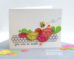 Memory Box Bumblebee Daydreams Dies, Memory Box Bumblebee Daydreams Stamps, Jean Okimoto, Imagine Crafts, Blog Blitz