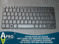 WORKING KEYBOARD HP TOUCH TX2500 TX2000 TX2600 464138-031 - UK SELLER - S #HP